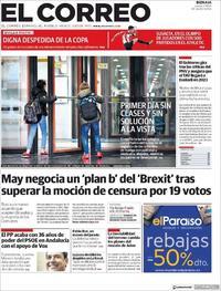 Portada El Correo 2019-01-17