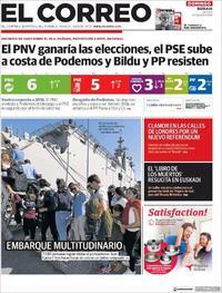 Portada El Correo 2019-03-24