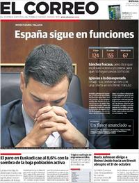 Portada El Correo 2019-07-26