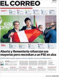 Portada El Correo 2019-05-27