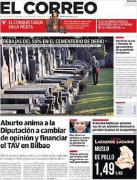 Portada El Correo 2019-03-28
