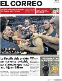 Portada El Correo 2019-09-30