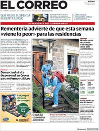 Portada El Correo 2020-04-08