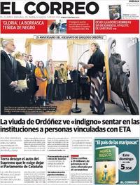Portada El Correo 2020-01-24