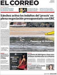 Portada El Correo 2020-09-24