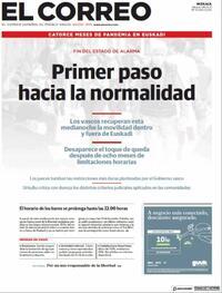 Portada El Correo 2021-05-08