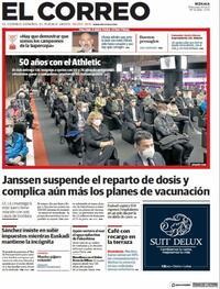 Portada El Correo 2021-04-14