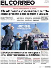 Portada El Correo 2021-01-21