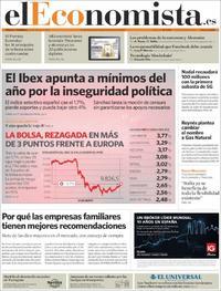Portada El Economista 2018-05-26