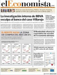 Portada El Economista 2019-08-20