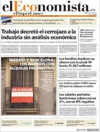 Portada El Economista 2020-07-06