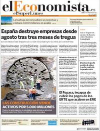 Portada El Economista 2020-09-21