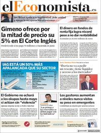 Portada El Economista 2021-01-21