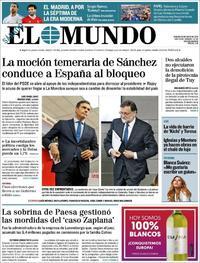 Portada El Mundo 2018-05-26