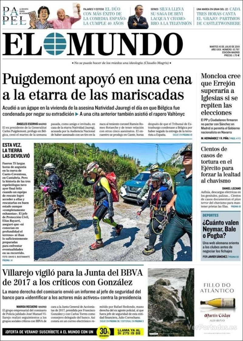 Portada La Razón 2019-07-16