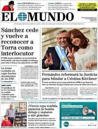 Portada El Mundo 2019-12-11