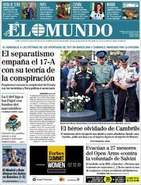 Portada El Mundo 2019-08-18