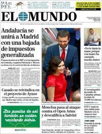 Portada El Mundo 2019-08-20