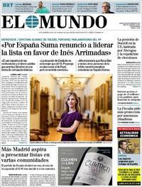 Portada El Mundo 2019-09-23