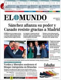 Portada El Mundo 2019-05-27