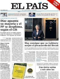 Portada El País 2018-11-15