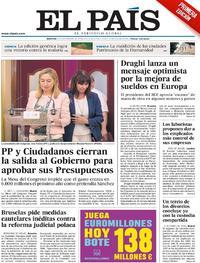 Portada El País 2018-09-25
