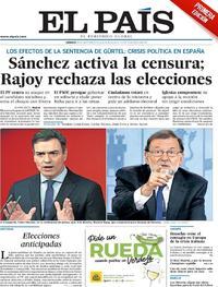 Portada El País 2018-05-26