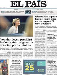 Portada El País 2019-07-17