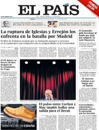 Portada El País 2019-01-18