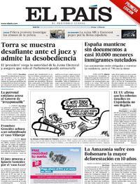 Portada El País 2019-11-19