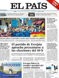 Portada El País 2019-09-23