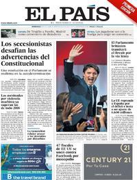 Portada El País 2019-10-23