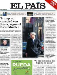 Portada El País 2019-03-25