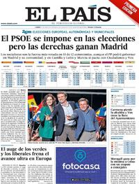 Portada El País 2019-05-27