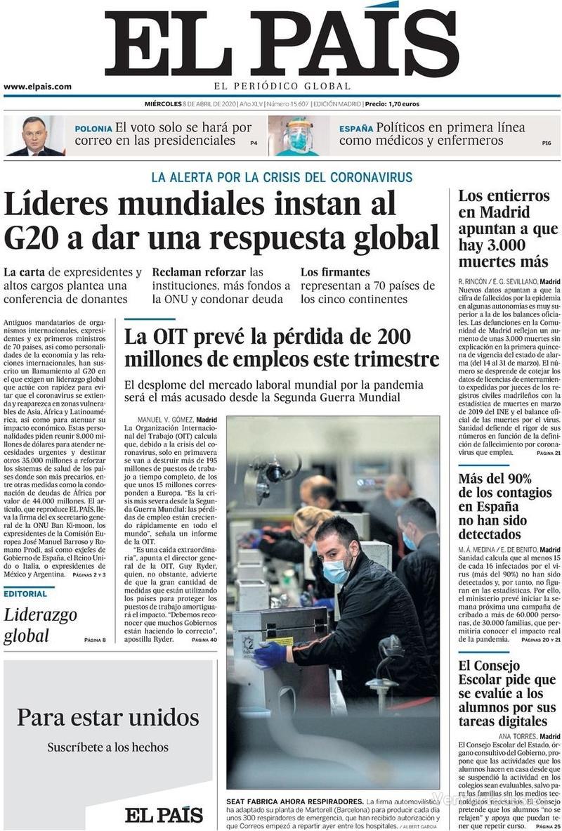 Portada El Mundo 2020-04-08
