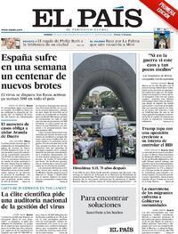 Portada El País 2020-08-07