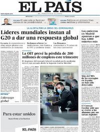 Portada El País 2020-04-08