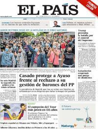 Portada El País 2020-09-21