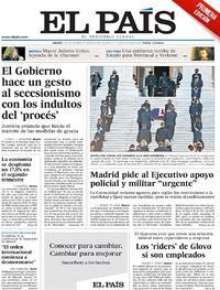 Portada El País 2020-09-24