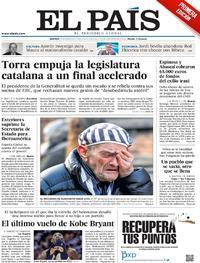 Portada El País 2020-01-28