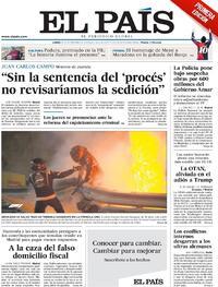 Portada El País 2020-11-30