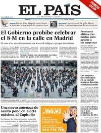 Portada El País 2021-03-05