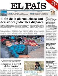 Portada El País 2021-05-08