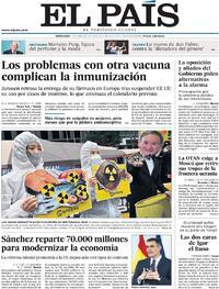 Portada El País 2021-04-14