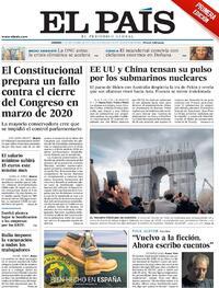 Portada El País 2021-09-17