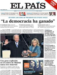 Portada El País 2021-01-21