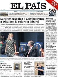 Portada El País 2021-10-23