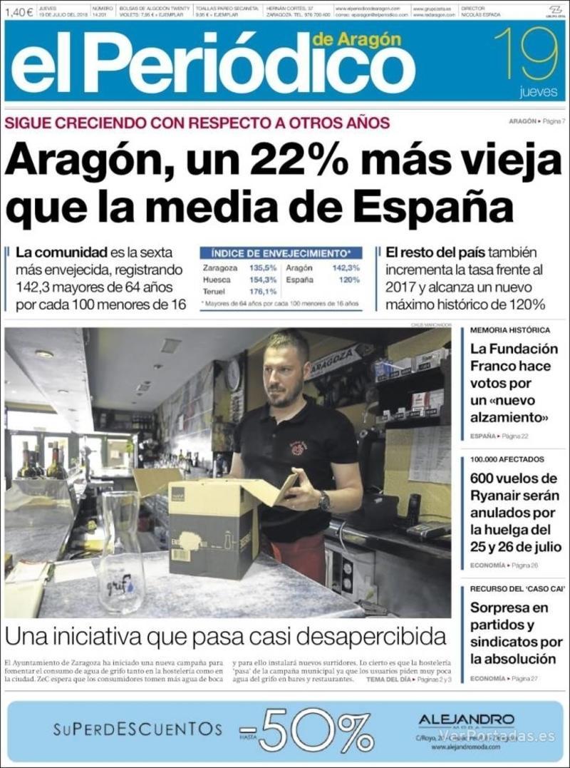 Portada El Periódico 2018-07-19