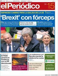 Portada El Periódico 2018-11-15