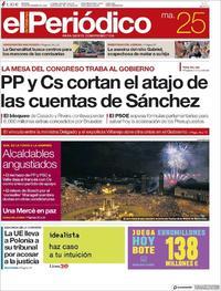 Portada El Periódico 2018-09-25